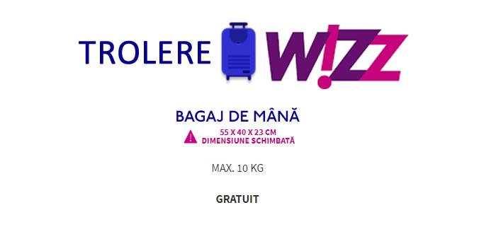 Trolere Ieftine 55x40x20cm Pentru Cabina Wizz Air Toprecomandariro